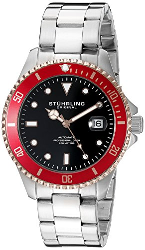 ストゥーリングオリジナル 腕時計 メンズ 792.04 Stuhrling Original Men's 792.04 Aquadiver Analog Display Automatic Self Wind Silver Watchストゥーリングオリジナル 腕時計 メンズ 792.04