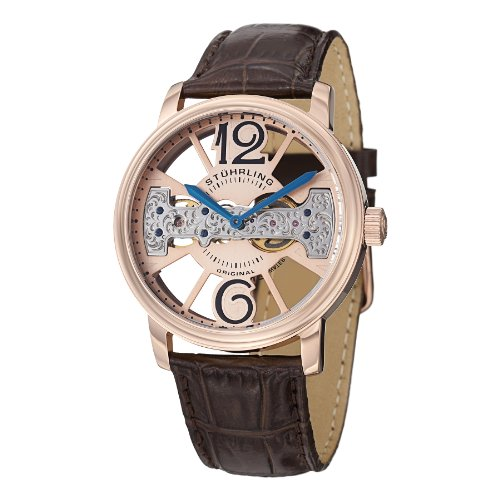 ストゥーリングオリジナル 腕時計 メンズ 785.03 【送料無料】Stuhrling Original Men's 785.03 Winchester County Date Brownストゥーリングオリジナル 腕時計 メンズ 785.03