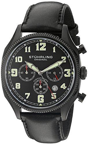 ストゥーリングオリジナル 腕時計 メンズ 584.02 Stuhrling Original Men's 584.02 Monaco Analog Display Quartz Black Watchストゥーリングオリジナル 腕時計 メンズ 584.02