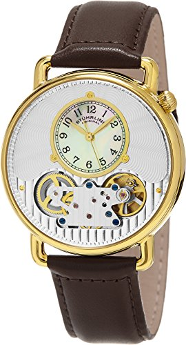 ストゥーリングオリジナル 腕時計 メンズ 693.03 【送料無料】Stuhrling Original Men's 693.03 Legacy Mechanical Watch Dual Balance Wheels Brown Genuine Leather Strap Watchストゥーリングオリジナル 腕時計 メンズ 693.03