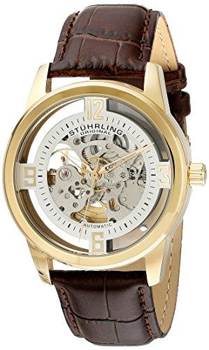 ストゥーリングオリジナル 腕時計 メンズ 877.04 【送料無料】Stuhrling Original Men's 877.04 Winchester Automatic Gold-Plated Watch with Croco-Embossed Bandストゥーリングオリジナル 腕時計 メンズ 877.04