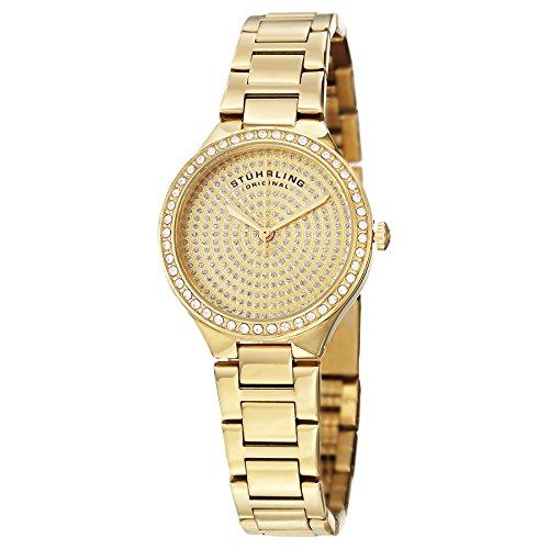 ストゥーリングオリジナル 腕時計 レディース 683.03 【送料無料】Stuhrling Original Women's 683.03 Symphony Swiss Quartz Crystal Dial Gold Watchストゥーリングオリジナル 腕時計 レディース 683.03