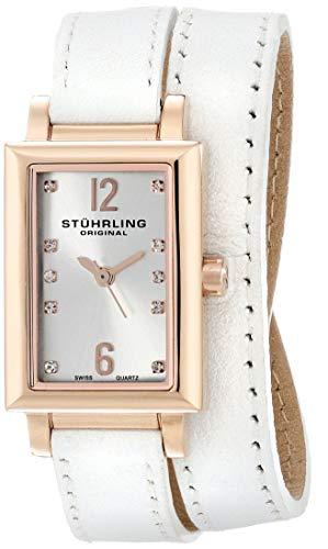 ストゥーリングオリジナル 腕時計 レディース 810.SET.03 【送料無料】Stuhrling Original Women's 810.SET.03 Audrey Paris 16k Rose Gold-Plated Stainless Steel Watch Set with Interchangeable Leathストゥーリングオリジナル 腕時計 レディース 810.SET.03
