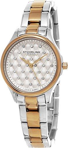 ストゥーリングオリジナル 腕時計 レディース 783.03 Stuhrling Original Women's 783.03 Symphony Quilted Dial Two Tone Stainless Steel Watchストゥーリングオリジナル 腕時計 レディース 783.03