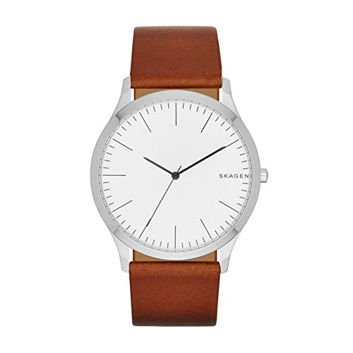 スカーゲン 腕時計 メンズ SKW6331 Skagen Men's jorn Quartz Stainless Steel and leather Watch Color: Silver, Brown (Model: SKW6331)スカーゲン 腕時計 メンズ SKW6331