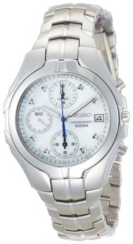 セイコー 腕時計 レディース SNDZ25 【送料無料】Seiko Women's SNDZ25 Excelsior Chronograph Silver-Tone Watchセイコー 腕時計 レディース SNDZ25