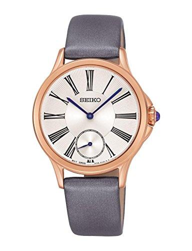 セイコー 腕時計 レディース SRKZ54P1 【送料無料】Seiko SRKZ54P1 White Dial Gray Leather Strap Women's Analog Quartz Watchセイコー 腕時計 レディース SRKZ54P1