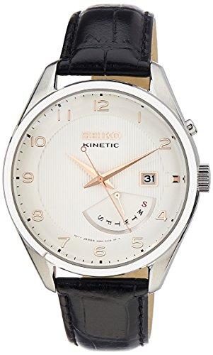 腕時計 セイコー メンズ Kinetic 【送料無料】Seiko Men's SRN049-P1 Kinetic Black Leather Watch腕時計 セイコー メンズ Kinetic