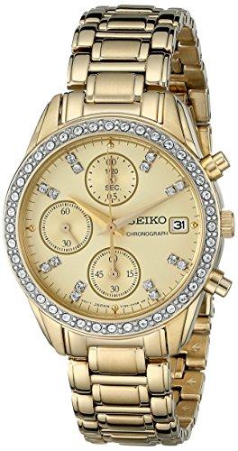 セイコー 腕時計 レディース SNDX76 【送料無料】Seiko Women's SNDX76 Chronograph Crystal Japanese Quartz Watchセイコー 腕時計 レディース SNDX76
