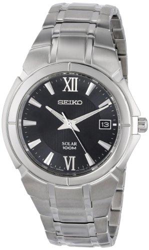セイコー 腕時計 メンズ SNE087 【送料無料】Seiko Men's SNE087 Two Tone Stainless Steel Analog with Black Dial Watchセイコー 腕時計 メンズ SNE087