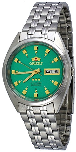 オリエント 腕時計 メンズ FAB00009N 【送料無料】Orient FAB00009N Men's 3 Star Stainless Steel Green Dial Self Wind Automatic Watchオリエント 腕時計 メンズ FAB00009N