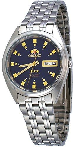 オリエント 腕時計 メンズ FAB00009D 【送料無料】Orient FAB00009D Men's 3 Star Stainless Steel Navy Blue Dial Self Wind Automatic Watchオリエント 腕時計 メンズ FAB00009D