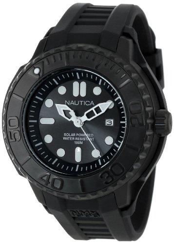 """ノーティカ 腕時計 メンズ N28509G 【送料無料】Nautica Men""""s N28509G NMX 1000 Date Solar Powered Black Watchノーティカ 腕時計 メンズ N28509G"""