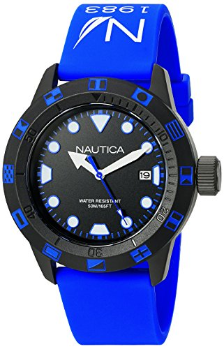 ノーティカ 腕時計 メンズ NAD10080G 【送料無料】Nautica Unisex NAD10080G NSR 100 FLAG Analog Display Quartz Blue Watchノーティカ 腕時計 メンズ NAD10080G