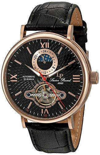 ルシアンピカール 腕時計 メンズ LP-15040-RG-01 Lucien Piccard Men's 'Babylon' Automatic Stainless Steel and Black Leather Casual Watch (Model: LP-15040-RG-01)ルシアンピカール 腕時計 メンズ LP-15040-RG-01