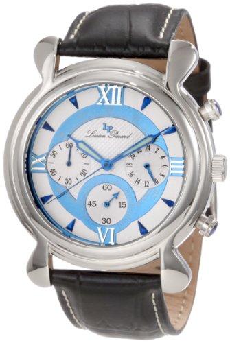 ルシアンピカール 腕時計 メンズ 28168BU 【送料無料】Lucien Piccard Men's 28168BU Scoperta Chronograph Black Leather Watchルシアンピカール 腕時計 メンズ 28168BU