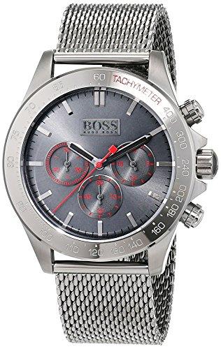 ヒューゴボス 高級腕時計 メンズ 1513443 【送料無料】Hugo Boss Ikon Gunmetal Dial Stainless Steel Men's Watch 1513443ヒューゴボス 高級腕時計 メンズ 1513443