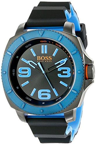 ヒューゴボス 高級腕時計 メンズ 1513108 【送料無料】HUGO BOSS Orange Men's 1513108 Sao Paulo Gunmetal-Tone Watch with Black Silicone Bandヒューゴボス 高級腕時計 メンズ 1513108