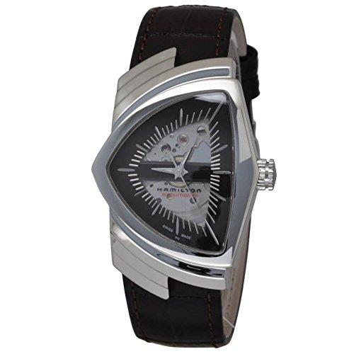 ハミルトン 腕時計 メンズ 42 Hamilton Ventura Brown Skeleton Dial SS Leather Automatic Men's Watch H24515591ハミルトン 腕時計 メンズ 42