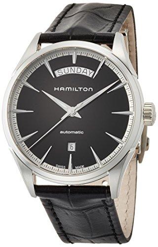 ハミルトン 腕時計 メンズ H42565731 【送料無料】Hamilton Men's Jazzmaster Stainless Steel Swiss-Automatic Watch with Leather Calfskin Strap, Black, 22 (Model: H42565731)ハミルトン 腕時計 メンズ H42565731