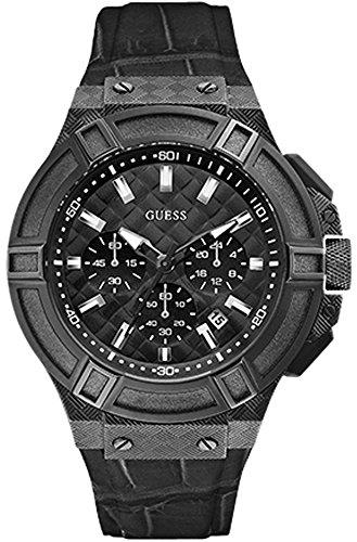 腕時計 ゲス GUESS メンズ 【送料無料】Guess Gent Mens Analog Quartz Watch with Synthetic Leather Bracelet W0408G1腕時計 ゲス GUESS メンズ