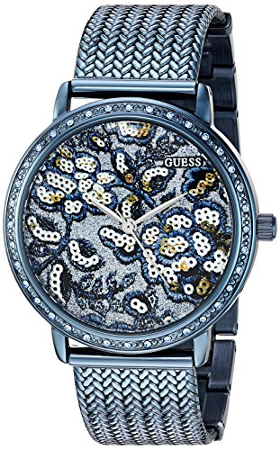 ゲス GUESS 腕時計 レディース U0822L3 【送料無料】GUESS Women's U0822L3 Trendy Blue Watch with Blue Dial , Crystal-Accented Bezel and Mesh G-Link Bandゲス GUESS 腕時計 レディース U0822L3