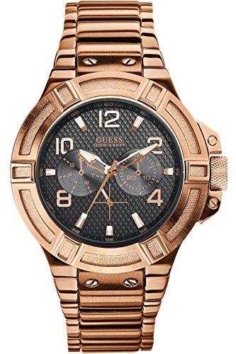ゲス GUESS 腕時計 メンズ W0218G3 【送料無料】GUESS W0218G3 Men's Rigor Multifunction,Dress Sport,Rose Gold Tone Case & Bracelet,Screw Crown,100m WRゲス GUESS 腕時計 メンズ W0218G3