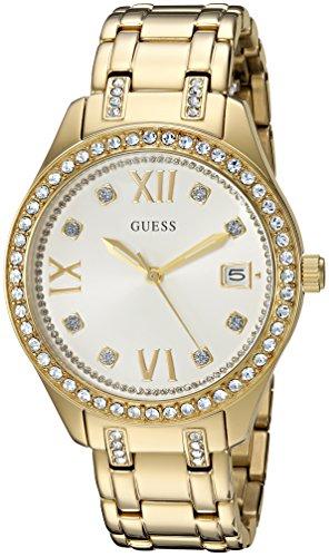 ゲス GUESS 腕時計 レディース U0848L2 GUESS Women's U0848L2 Sporty Gold-Tone Watch with White Dial , Crystal-Accented Bezel and Stainless Steel Pilot Buckleゲス GUESS 腕時計 レディース U0848L2