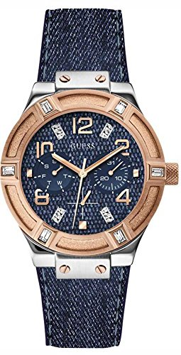 ゲス GUESS 腕時計 レディース Ladies Sport GUESS Women's W0289L1 Iconic Blue Denim Multi-Function Watchゲス GUESS 腕時計 レディース Ladies Sport