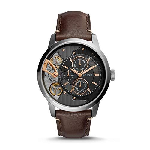 フォッシル 腕時計 メンズ ME1163 【送料無料】Fossil Mens ME1163 Townsman Twist Multifunction Dark Brown Leather Watchフォッシル 腕時計 メンズ ME1163