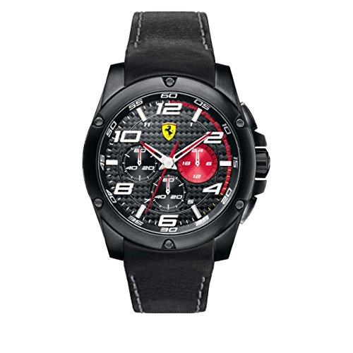 フェラーリ 腕時計 メンズ 830030 【送料無料】Scuderia Ferrari Paddock Black Dial Chronograph Quartz Male Watch 830030フェラーリ 腕時計 メンズ 830030