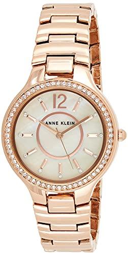 アンクライン 腕時計 レディース AK/1854RMRG 【送料無料】Anne Klein Women's AK/1854RMRG Swarovski Crystal Accented Rose Gold-Tone Bracelet Watchアンクライン 腕時計 レディース AK/1854RMRG