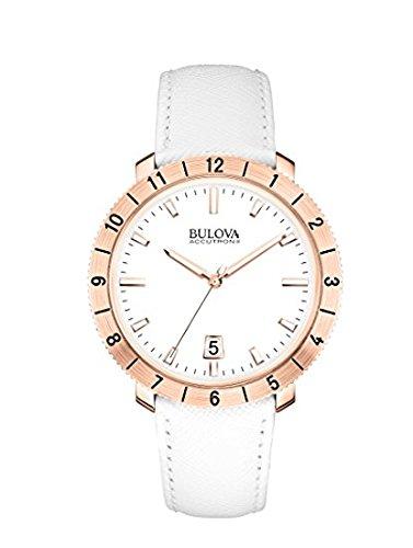 ブローバ 腕時計 レディース 97B128 【送料無料】Bulova Ladies White Strap Rose Gold Case Watch 97B128ブローバ 腕時計 レディース 97B128