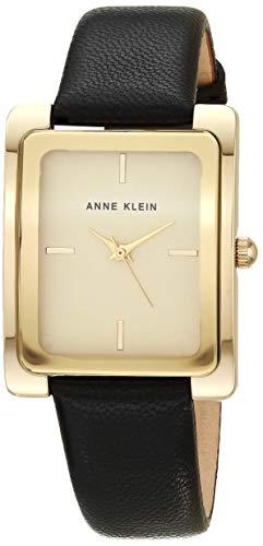 アンクライン 腕時計 レディース AK/2706CHBK Anne Klein Women's AK/2706CHBK Gold-Tone and Black Leather Strap Watchアンクライン 腕時計 レディース AK/2706CHBK