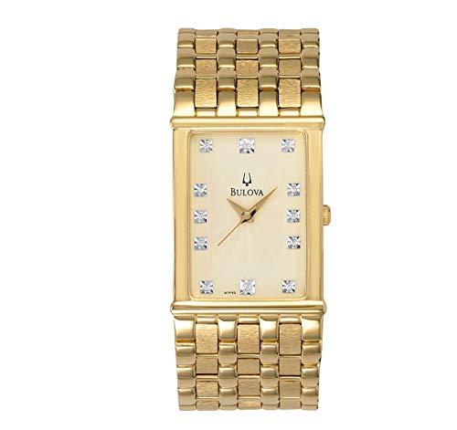 """ブローバ 腕時計 メンズ 97F52 【送料無料】Bulova Men""""s 97F52 Diamond Accented Gold-Tone Steel Watchブローバ 腕時計 メンズ 97F52"""