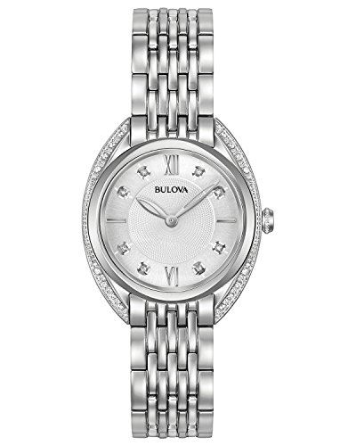 ブローバ 腕時計 レディース 96R212 【送料無料】Bulova Women's Quartz Watch with Stainless-Steel Strap, Silver, 14 (Model: 96R212)ブローバ 腕時計 レディース 96R212