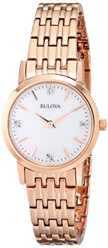 ブローバ 腕時計 レディース 97P106 【送料無料】Bulova Women's 97P106 Diamond Gallery Analog Display Japanese Quartz Rose Gold Watchブローバ 腕時計 レディース 97P106