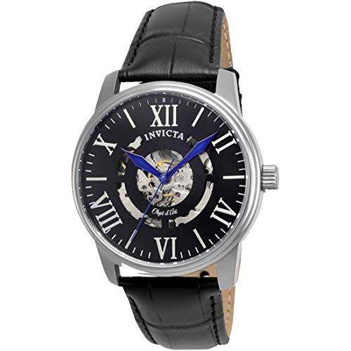 インヴィクタ インビクタ 腕時計 メンズ 22600 【送料無料】Invicta Men's Objet D Art Stainless Steel Automatic-self-Wind Watch with Leather Calfskin Strap, Black, 22 (Model: 22600)インヴィクタ インビクタ 腕時計 メンズ 22600