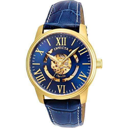 インヴィクタ インビクタ 腕時計 メンズ 22601 Invicta Men's Objet D Art Automatic-self-Wind Watch with Leather Calfskin Strap, Blue, 22 (Model: 22601)インヴィクタ インビクタ 腕時計 メンズ 22601