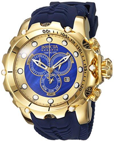 インヴィクタ インビクタ ベノム 腕時計 メンズ 20402 Invicta Men's Venom Stainless Steel Swiss-Quartz Watch with Silicone Strap, Blue, 26 (Model: 20402)インヴィクタ インビクタ ベノム 腕時計 メンズ 20402