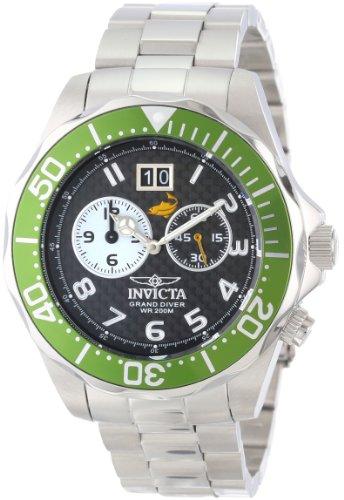 インヴィクタ インビクタ プロダイバー 腕時計 メンズ 14443 Invicta Men's 14443 Pro Diver Black Carbon Fiber Dial Stainless Steel Watchインヴィクタ インビクタ プロダイバー 腕時計 メンズ 14443