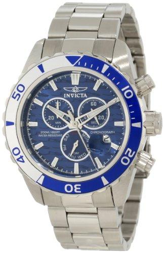 インヴィクタ インビクタ プロダイバー 腕時計 メンズ 12445 【送料無料】Invicta Men's 12445 Pro Diver Chronograph Blue Textured Dial Watchインヴィクタ インビクタ プロダイバー 腕時計 メンズ 12445
