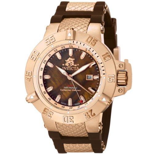 腕時計 インヴィクタ インビクタ サブアクア メンズ 0739 【送料無料】Invicta Men's 0739 Subaqua Noma II Collection Brown Dial Brown Polyurethane Watch腕時計 インヴィクタ インビクタ サブアクア メンズ 0739