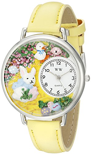気まぐれな腕時計 かわいい プレゼント クリスマス ユニセックス WHIMS-U1220015 【送料無料】Whimsical Watches Unisex U1220015 Easter Bunny Yellow Leather Watch気まぐれな腕時計 かわいい プレゼント クリスマス ユニセックス WHIMS-U1220015