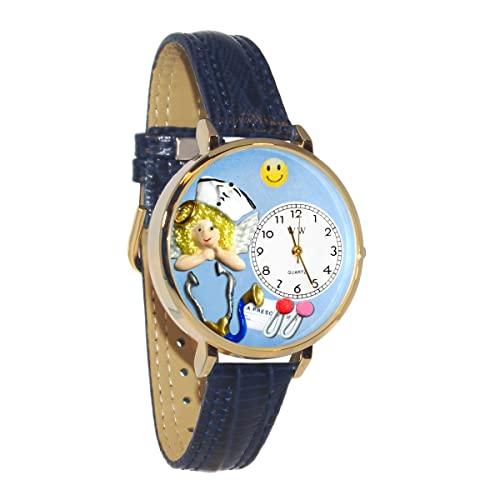 気まぐれな腕時計 かわいい プレゼント クリスマス ユニセックス WHIMS-G0620030 【送料無料】Whimsical Watches Women's G-0620030 Nurse Light Blue Leather Watch気まぐれな腕時計 かわいい プレゼント クリスマス ユニセックス WHIMS-G0620030