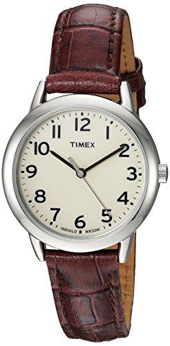 腕時計 タイメックス レディース TW2R30300 【送料無料】Timex Women's TW2R30300 Easy Reader 30mm Croco Pattern Brown Leather Strap Watch腕時計 タイメックス レディース TW2R30300