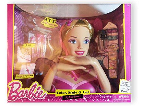 バービー バービー人形 スタイリングヘッド スタイルヘッド スタイルドールヘッド Barbie Deluxe Color, Style & Cut Styling Head (Blonde Barbie Syling Head & 19...バービー バービー人形 スタイリングヘッド スタイルヘッド スタイルドールヘッド
