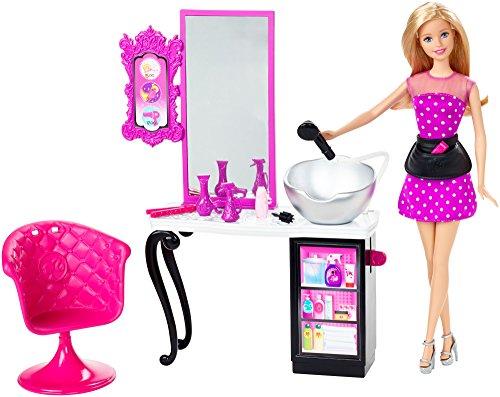 バービースタイルサロン 美容院 プレイセット バービー人形 CMM55 ディスプレイやプレゼントに最適