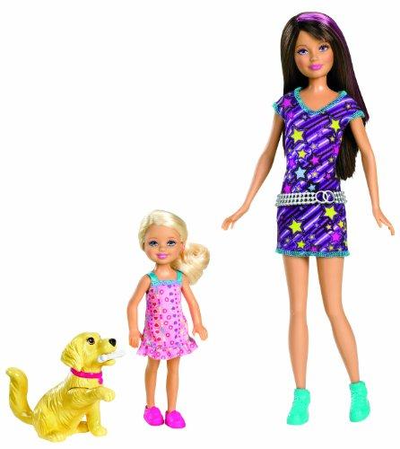 バービー バービー人形 チェルシー スキッパー ステイシー W3286 Barbie Sisters Train Taffy Skipper and Chelsea Doll 2-Packバービー バービー人形 チェルシー スキッパー ステイシー W3286