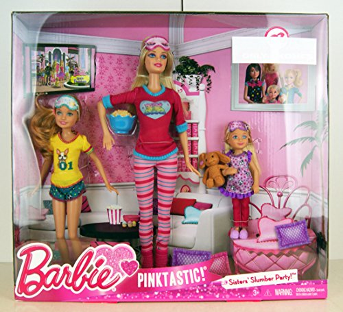 バービー バービー人形 チェルシー スキッパー ステイシー Barbie Pink-Tastic Sisters Slumber Party (223952188)バービー バービー人形 チェルシー スキッパー ステイシー